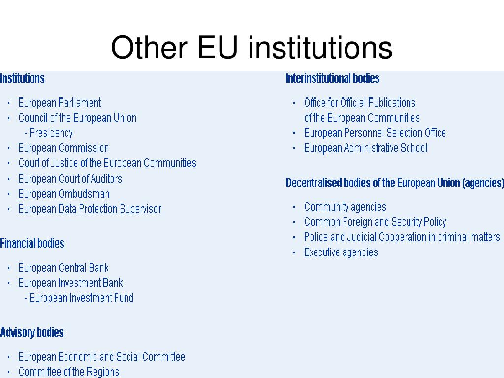 Other EU institutions