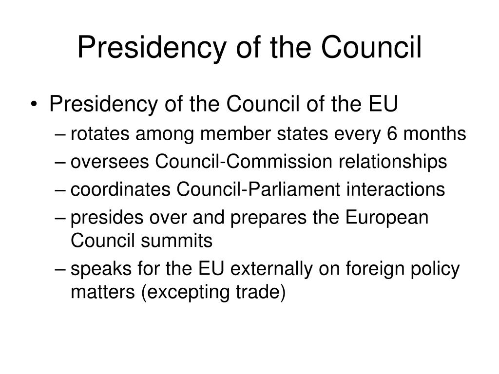 Presidency of the Council