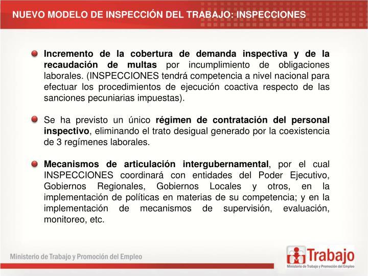 NUEVO MODELO DE INSPECCIÓN DEL TRABAJO: INSPECCIONES