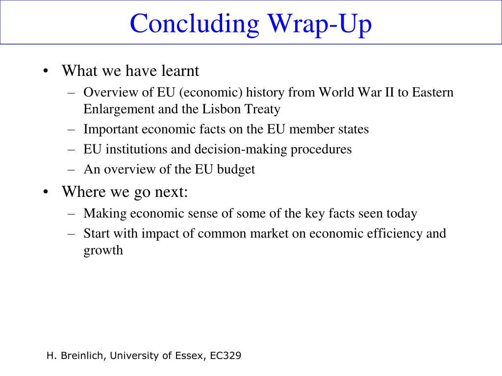 Concluding Wrap-Up