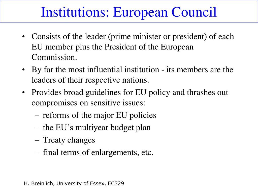 Institutions: