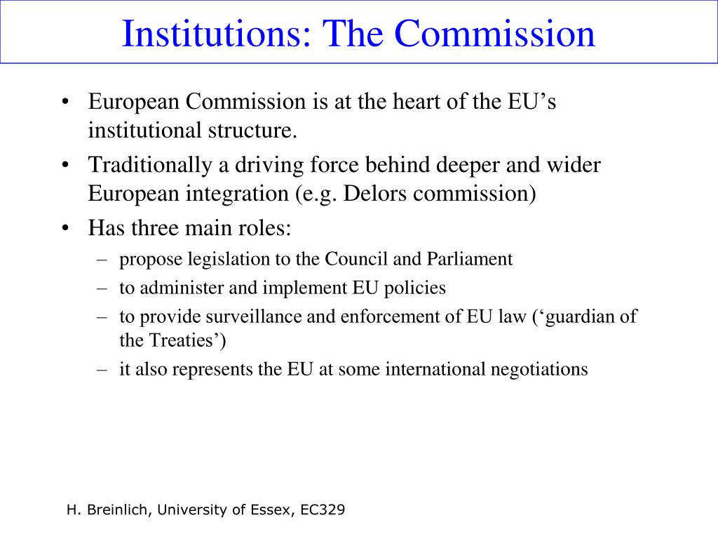 Institutions: The Commission