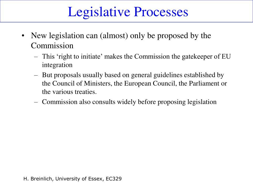 Legislative Processes