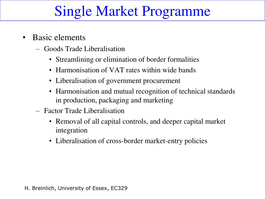 Single Market Programme
