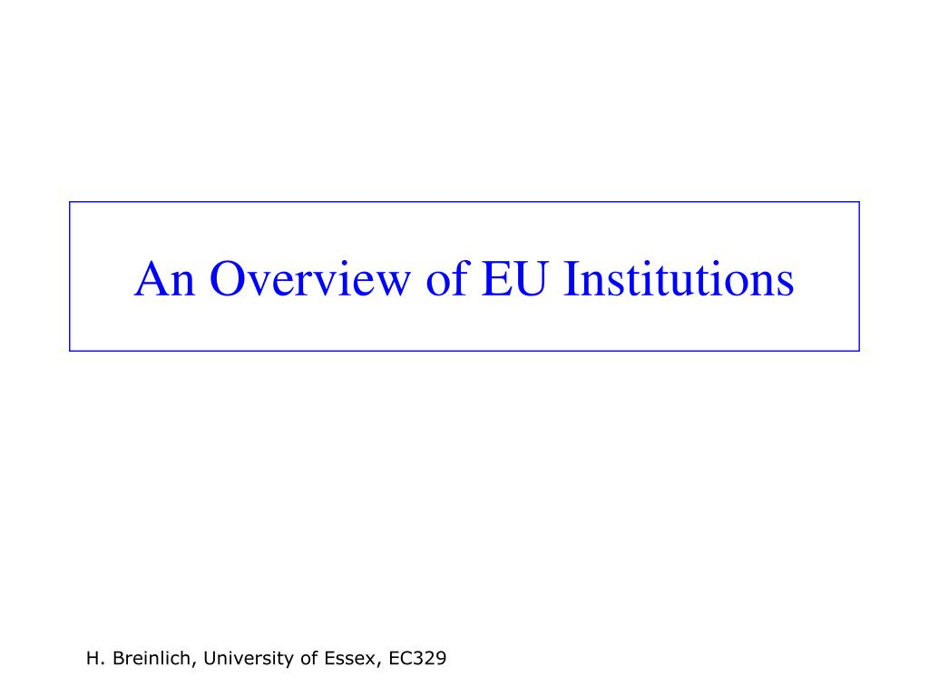 An Overview of EU Institutions