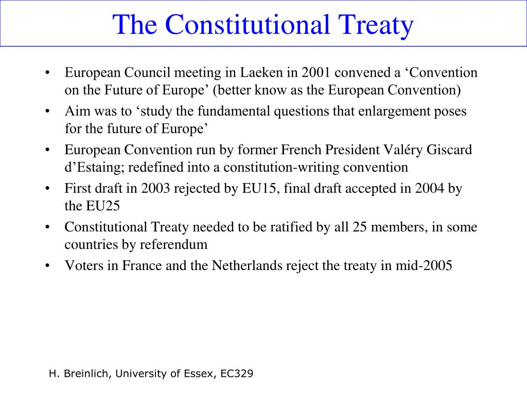 The Constitutional Treaty