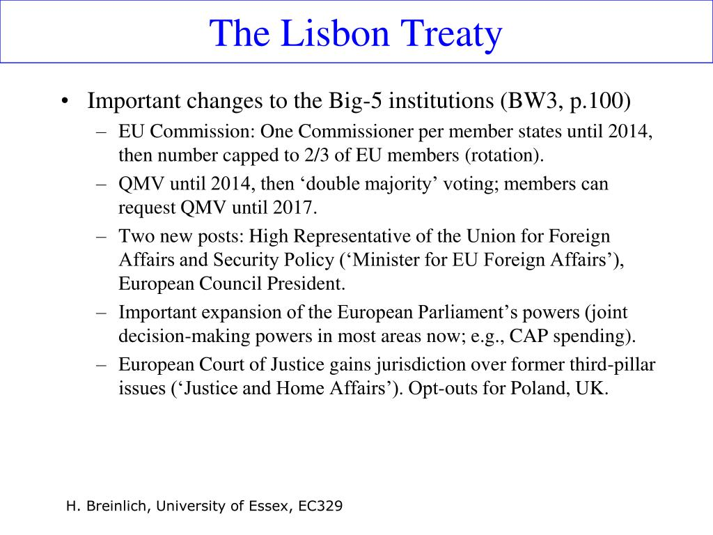The Lisbon Treaty