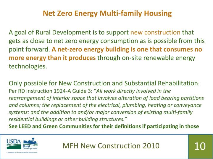 Net Zero Energy Multi-family Housing