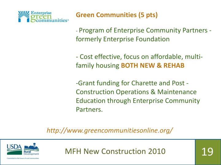 Green Communities (5 pts)