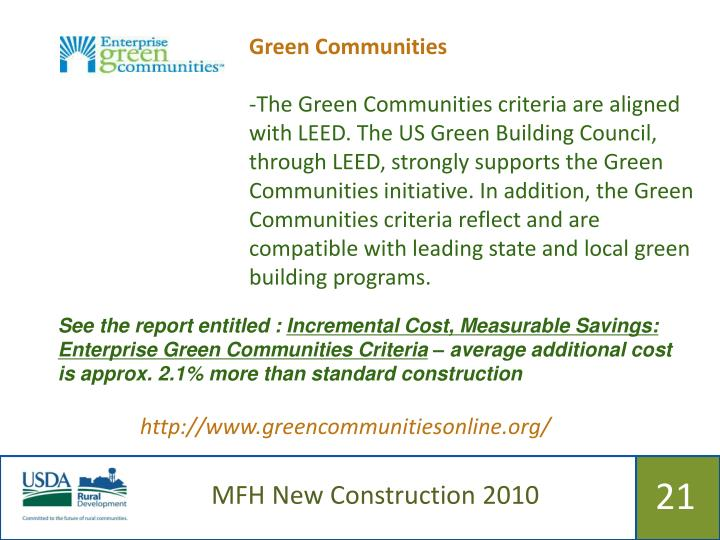 Green Communities
