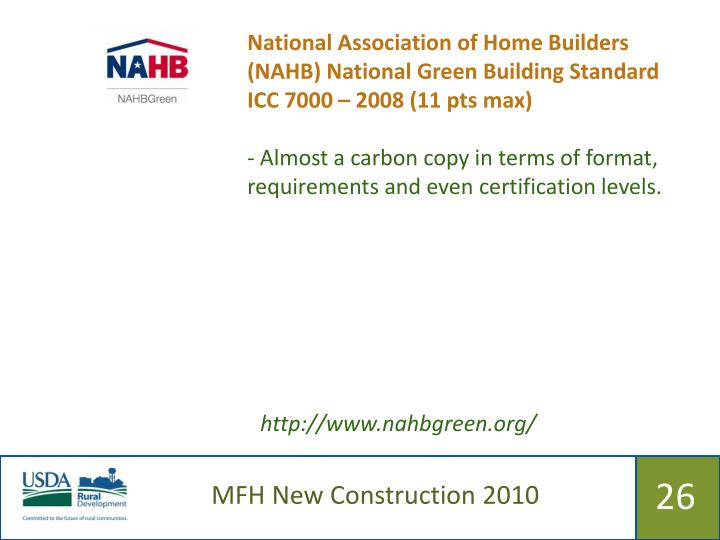 National Association of Home Builders (NAHB) National Green Building Standard