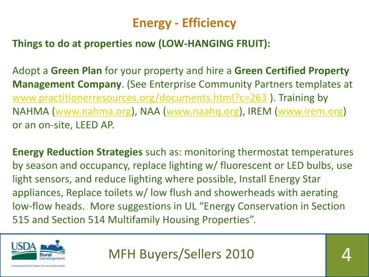 Energy - Efficiency