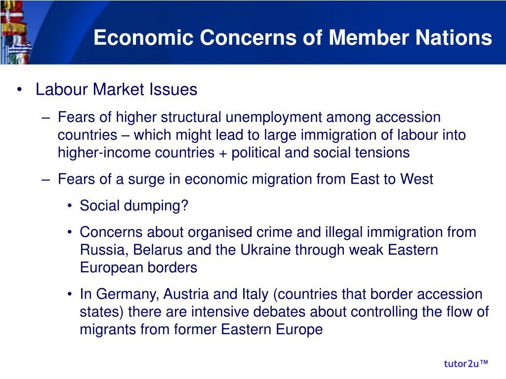 Economic Concerns of Member Nations