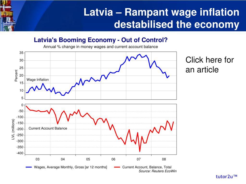 Latvia – Rampant wage inflation destabilised the economy
