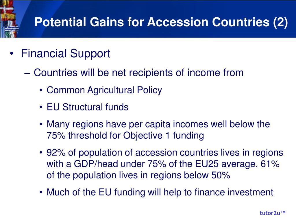 Potential Gains for Accession Countries (2)