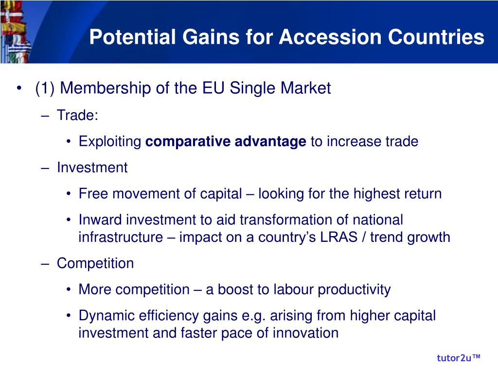 Potential Gains for Accession Countries