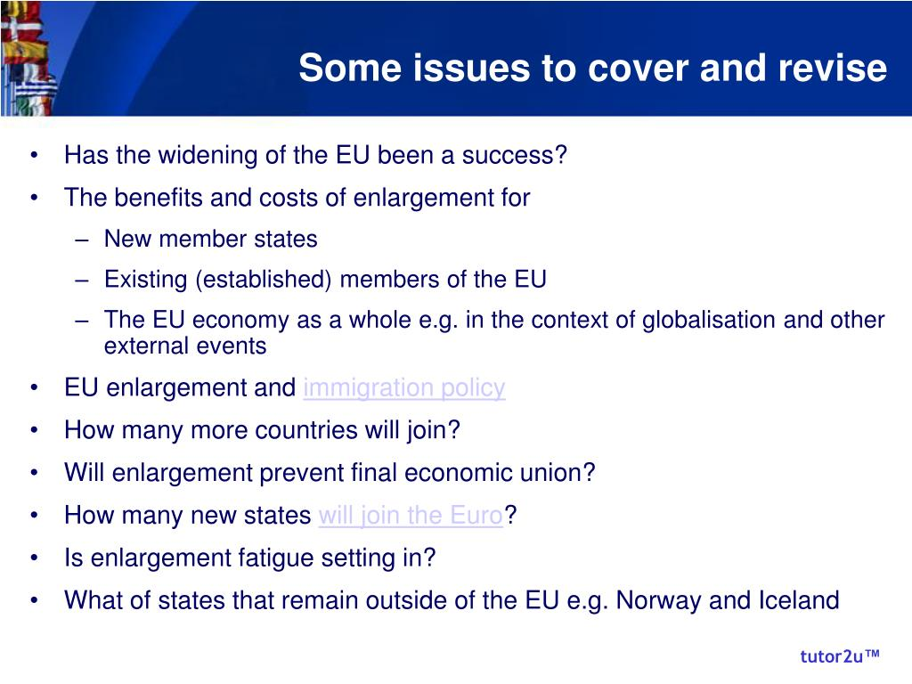 Some issues to cover and revise