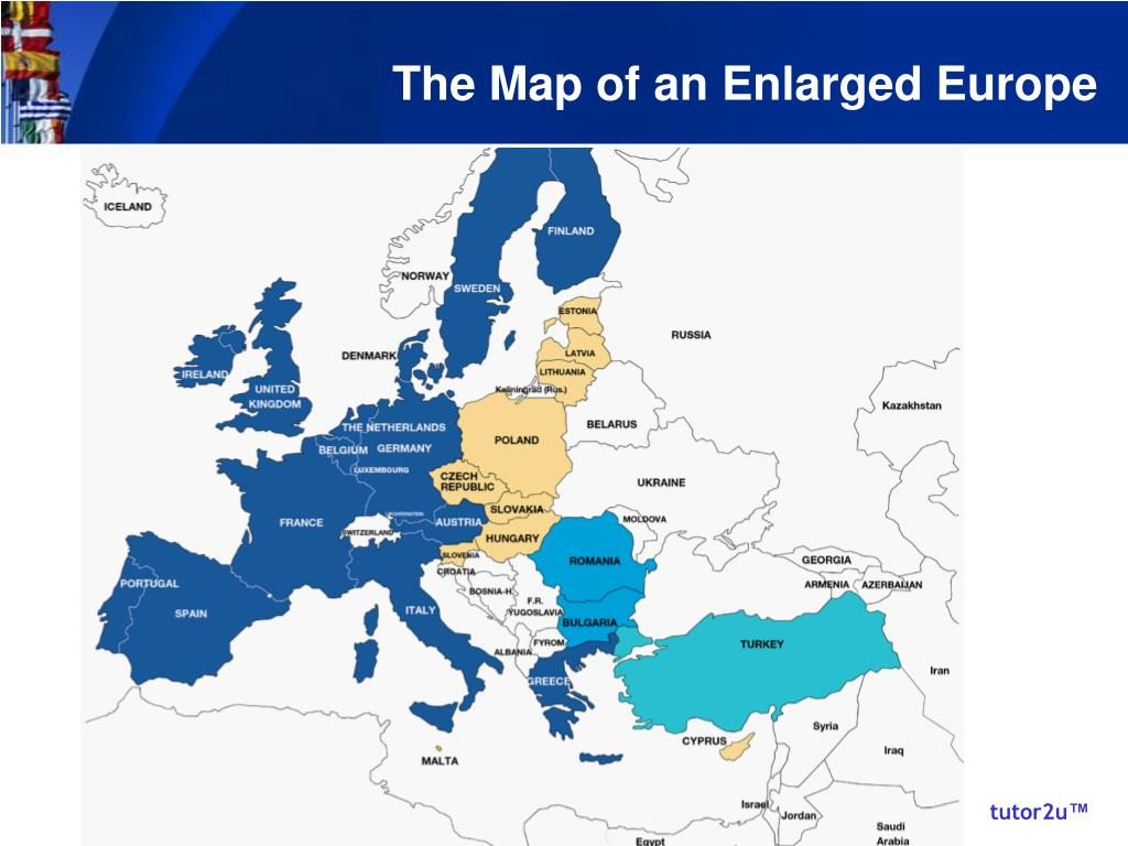 The Map of an Enlarged Europe