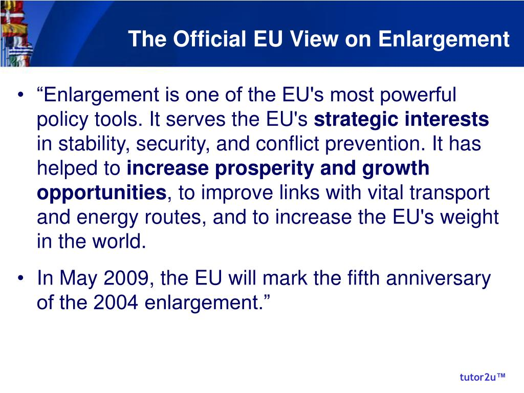 The Official EU View on Enlargement