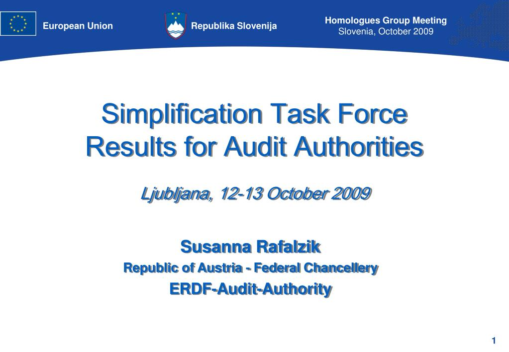 Simplification Task Force