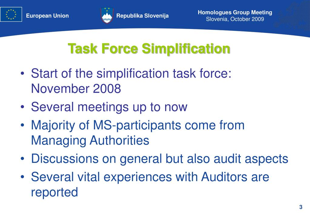 Task Force Simplification