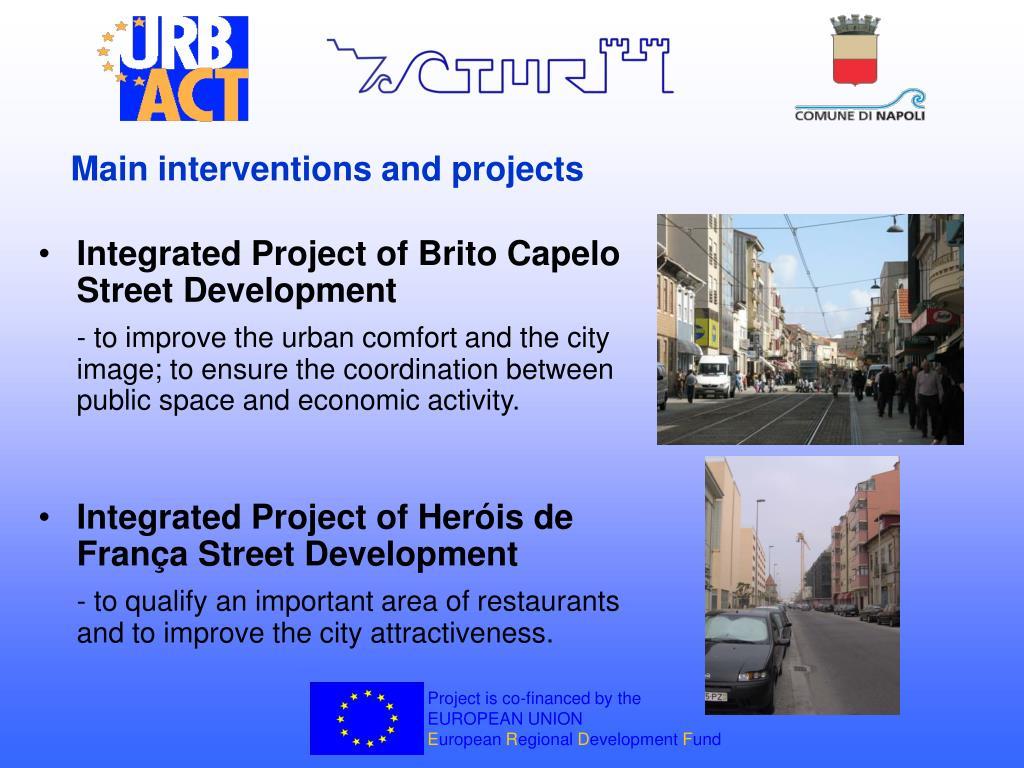 Integrated Project of Brito Capelo Street Development