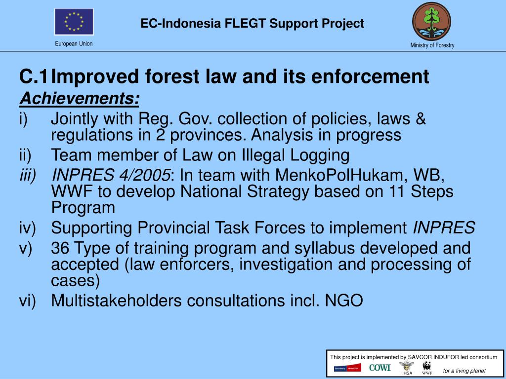 C.1Improved forest law and its enforcement