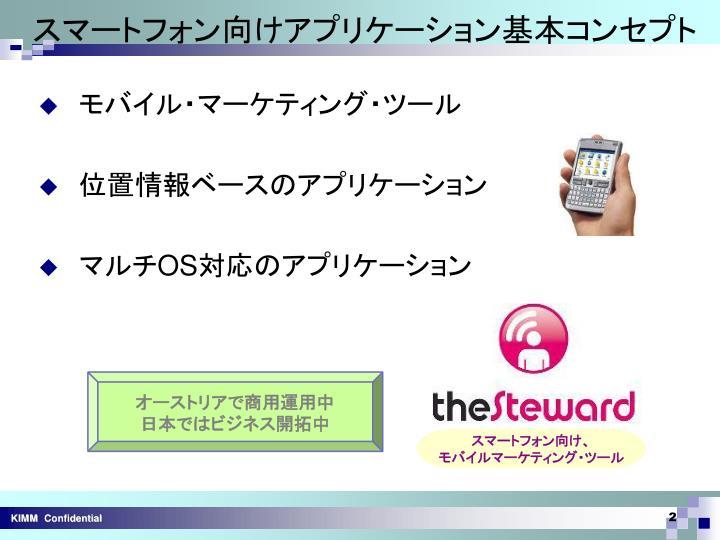 スマートフォン向けアプリケーション基本コンセプト