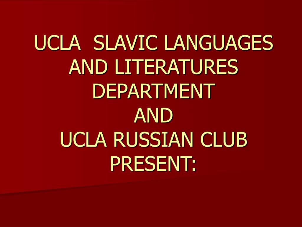 UCLA  SLAVIC LANGUAGES