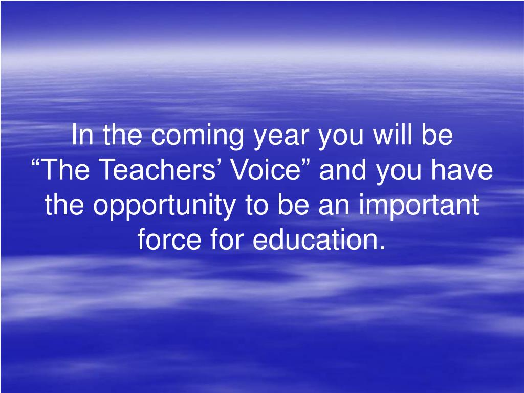 In the coming year you will be