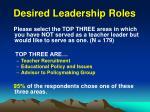 desired leadership roles