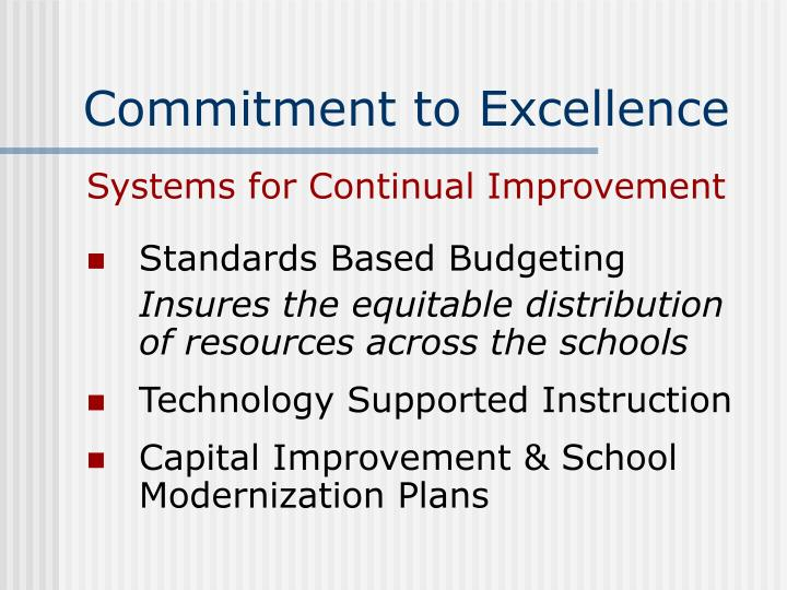 Commitment to excellence3