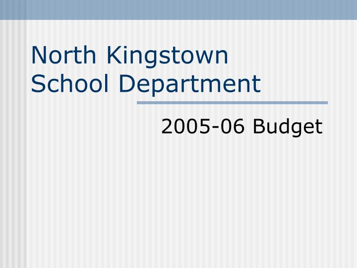 North kingstown school department