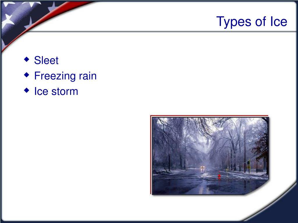 Types of Ice