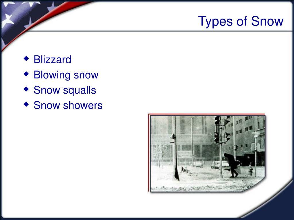 Types of Snow