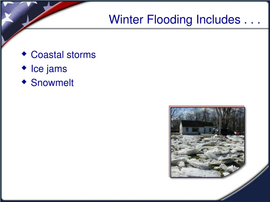 Winter Flooding Includes . . .