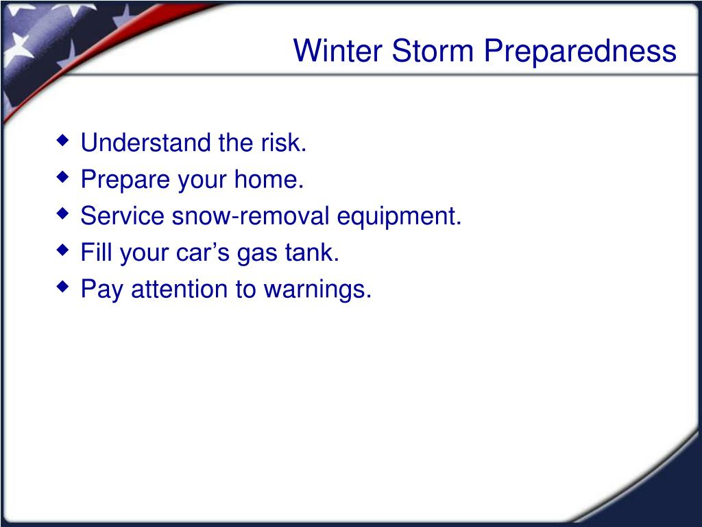 Winter Storm Preparedness