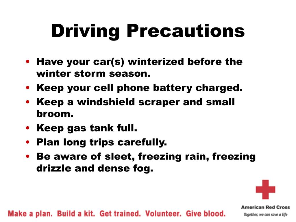 Driving Precautions