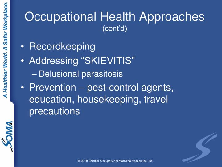 Occupational Health Approaches