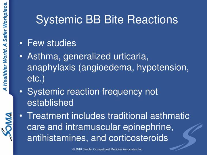 Systemic BB Bite Reactions