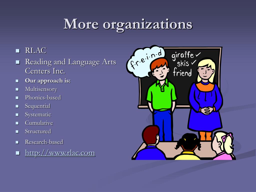 More organizations