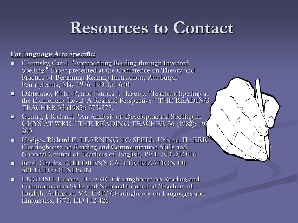 Resources to Contact