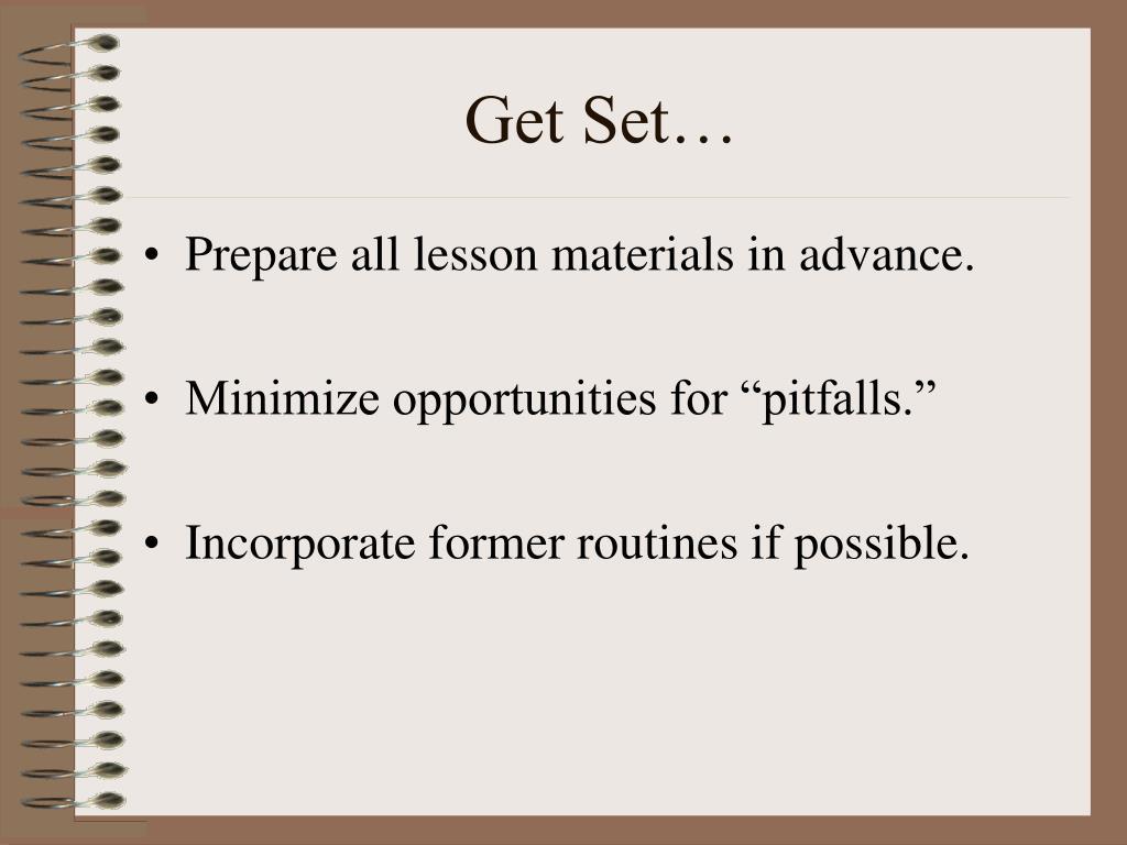 Get Set…