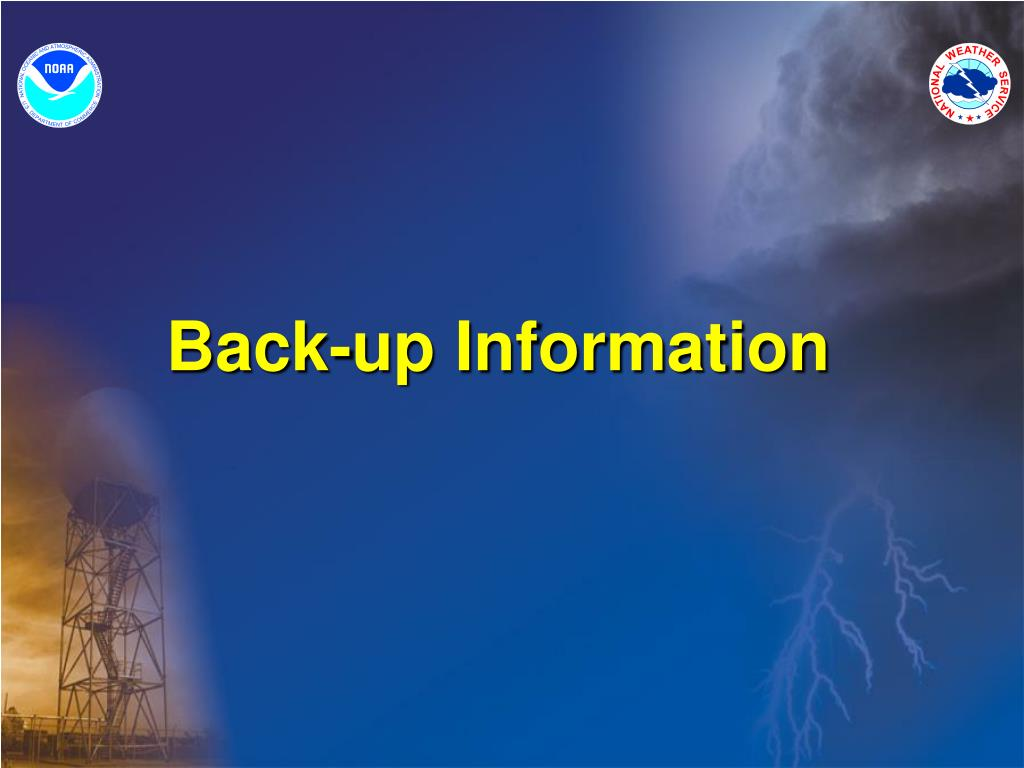 Back-up Information