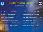 winter weather services team composition