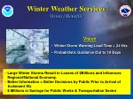 winter weather services vision benefits