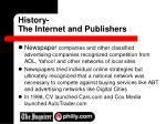 history the internet and publishers