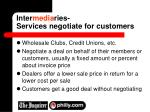 inter media ries services negotiate for customers