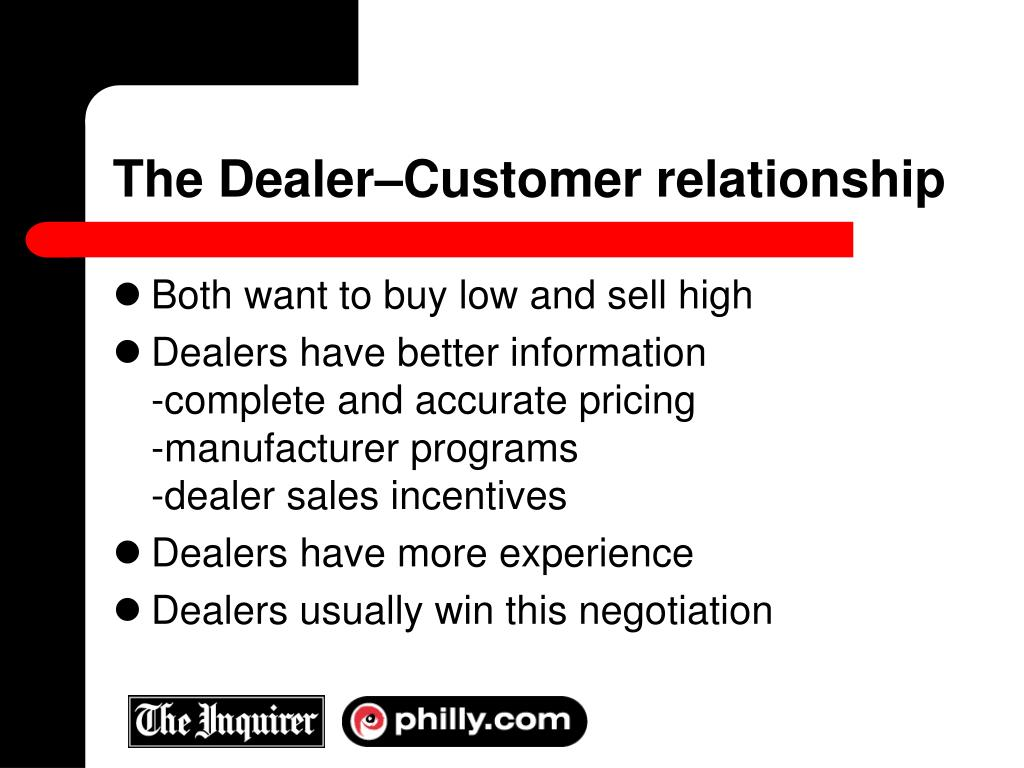 The Dealer–Customer relationship