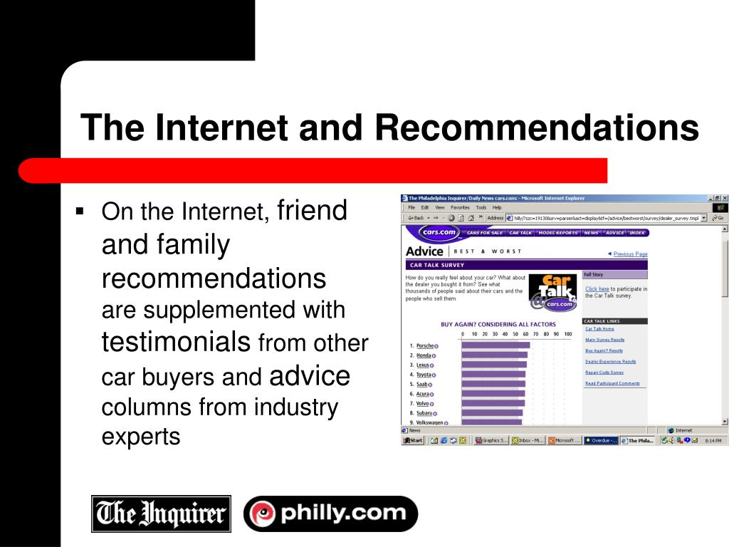 The Internet and Recommendations